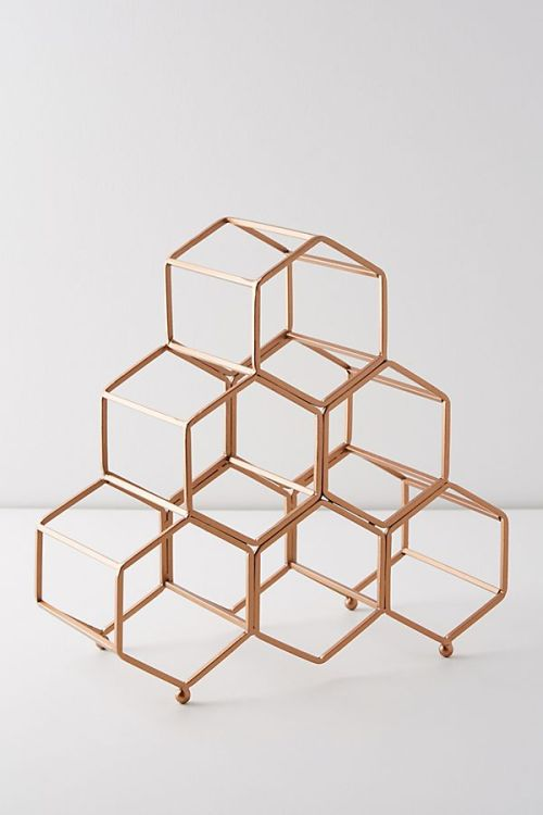 Anthropologie Honeycomb Wine Rack