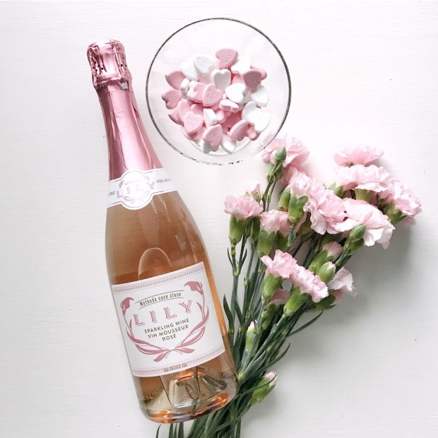 galentine's Party - You Had me at Merlot - Colio Lily Sparkling Rose Wine