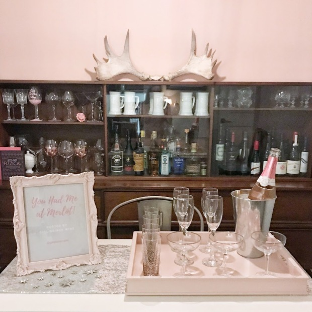 Galentine's Party - You Had me at Merlot - Pink Bubbly Station