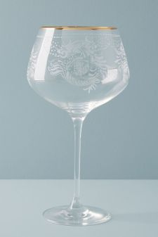 anthropologie sante red wine glass mothers day gift