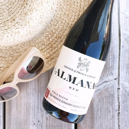 wine review - the grange of prince edward alamac red - summer red wine