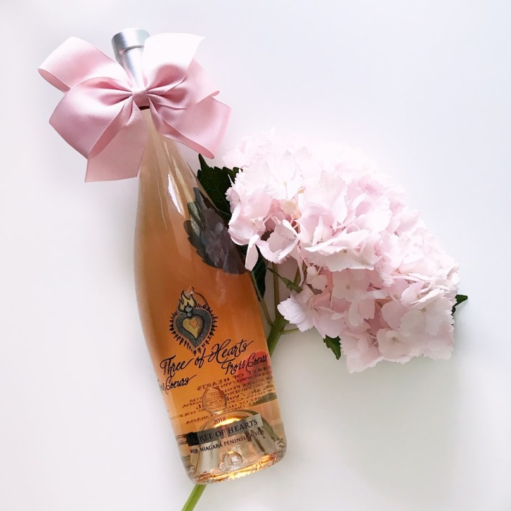 Three of Hearts Rose Ontario Wine Review Valentines Day