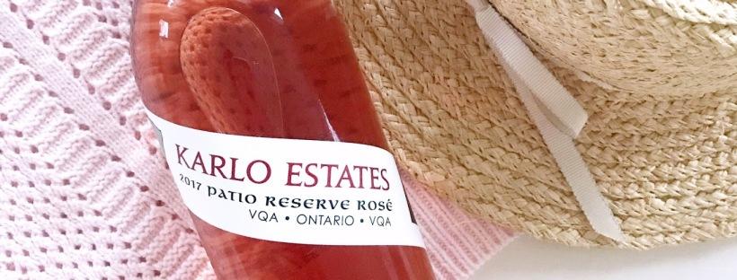Karlo Estates Patio Reserve Rose Ontario Wine
