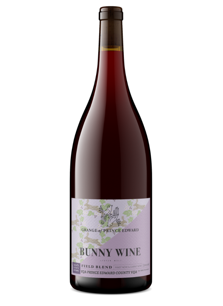 Grange of Prince Edward Gamay Pinot Bunny Wine red ontario