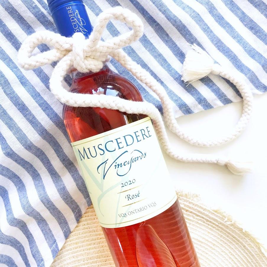 Muscadere Vineyards Rose Wine Ontario VQA local winery